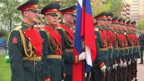 Formation of soldiers honor. 4K. stock video footage