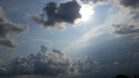 Formation of storm clouds. Royalty Free Stock Image