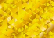 Formation technique de mosaïque de triangles de scintillement d'or Image stock