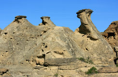 Formation of Three Hoodoos Stock Photos