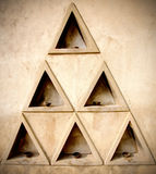 Formation of triangles Royalty Free Stock Photos