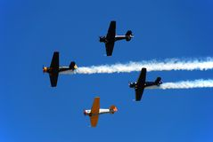 Formation of vintage planes Royalty Free Stock Photography