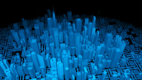 Formation of virtual reality city stock video footage