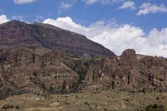 Formation volcanique dans la chaîne d'Absaroka Images stock
