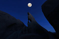 Formation Wizards Eye in Joshua Tree National Park Stock Image
