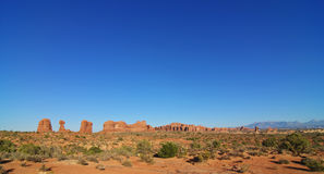 Formations at arches national park, utah, Royalty Free Stock Photo