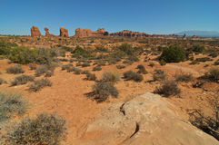 Formations at arches national park, utah, Royalty Free Stock Images