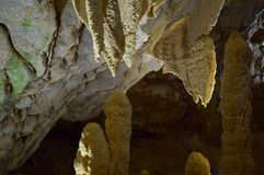 Formations in cavern Stock Photography