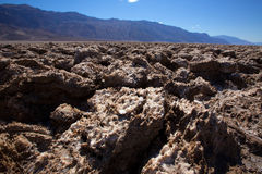 Formations d'argile de sel de Death Valley de terrain de golf de diables Photographie stock libre de droits