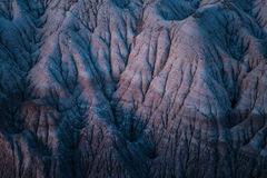 Formations de Badland dans la lumière bleue de Mesa Area Under Full Moon dans Forest National Park pétrifié, Arizona images libres de droits