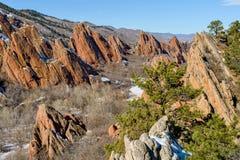 Formations de fontaine de roche Image stock
