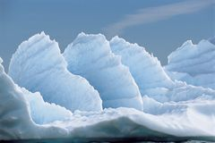 Formations de glace Photos libres de droits