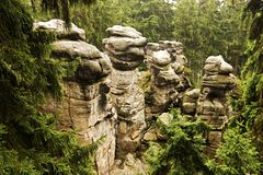 Formations de grès Images stock