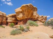 Formations de grès du jardin du diable près d'Escalante, Utah photographie stock
