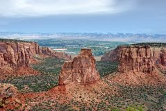 Formations de grès en monument national du Colorado image libre de droits