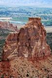 Formations de grès en monument national du Colorado image stock
