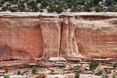Formations de grès en monument national du Colorado photo stock