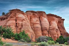 Formations de grès en monument national du Colorado photographie stock libre de droits