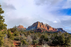 Formations de haute forêt de désert et de grès rouge dans Sedona, Arizona Images libres de droits