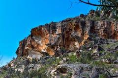 Formations de montagnes et de roche de parc national de Grampians images libres de droits