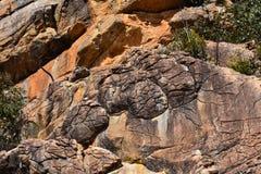 Formations de montagnes et de roche de parc national de Grampians photographie stock libre de droits