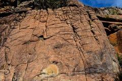 Formations de montagnes et de roche de parc national de Grampians photographie stock