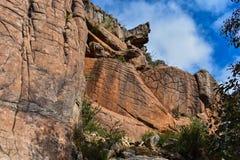 Formations de montagnes et de roche de parc national de Grampians photos stock