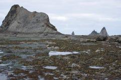 Formations de piscines et de roche de mar?e ? mar?e basse photo libre de droits