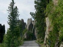 """Formations de roche à l'aiguille \ au """"oeil de s, aiguille \ """"route de s, le Dakota du Sud images stock"""