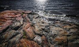 Formations de roche à la baie géorgienne image stock