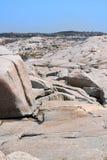 Formations de roche à la crique de Peggy Image libre de droits