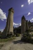 Formations de roche à la vallée d'amour en Turquie Photos libres de droits