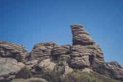 Formations de roche à la vallée d'espoir en parc national de secteur maximal, Derbyshire photographie stock
