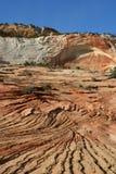 Formations de roche érodées de grès Zion NP Image libre de droits