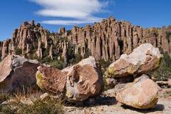 Formations de roche au monument national de Chiricahua Images libres de droits