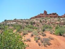 Formations de roche au parc national de voûtes en Utah Photo stock