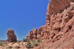 Formations de roche au parc national de voûtes en Utah Photo libre de droits