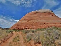 Formations de roche au parc national de voûtes en Utah Photos stock