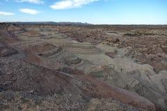 Formations de roche au parc provincial d'Ischigualasto photographie stock