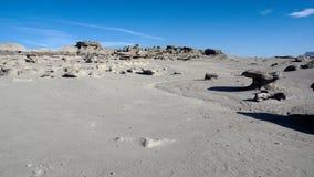 Formations de roche au parc provincial d'Ischigualasto photo stock