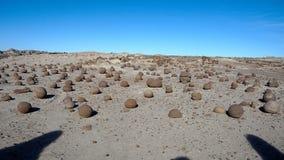 Formations de roche au parc provincial d'Ischigualasto image stock