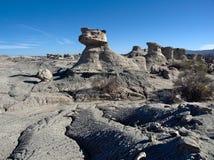Formations de roche au parc provincial d'Ischigualasto photographie stock libre de droits