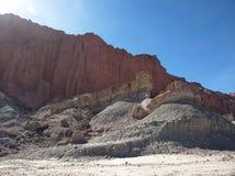 Formations de roche au parc provincial d'Ischigualasto photos stock
