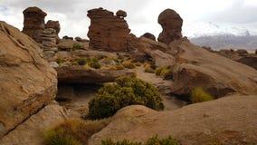 Formations de roche autour de Laguna Turquiri, Bolivie photo stock