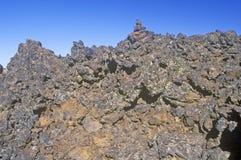 Formations de roche aux cratères du monument national de lune, Idaho image stock