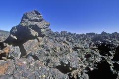 Formations de roche aux cratères du monument national de lune, Idaho Images stock