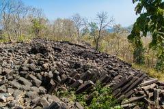 Formations de roche basiques de colonne Inde images libres de droits