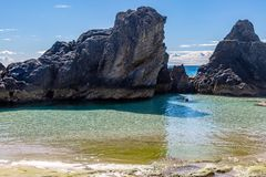 Formations de roche bermudiennes photographie stock libre de droits