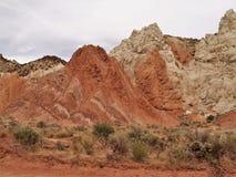 Formations de roche de Canyon Road de peuplier photos libres de droits