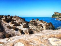 Formations de roche chez Yehliu Taïwan image libre de droits